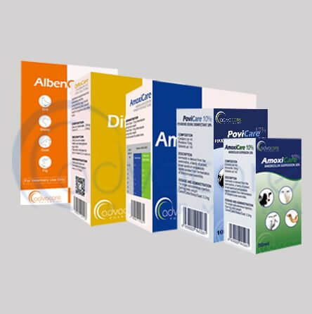 Veterinary other preparations packaging