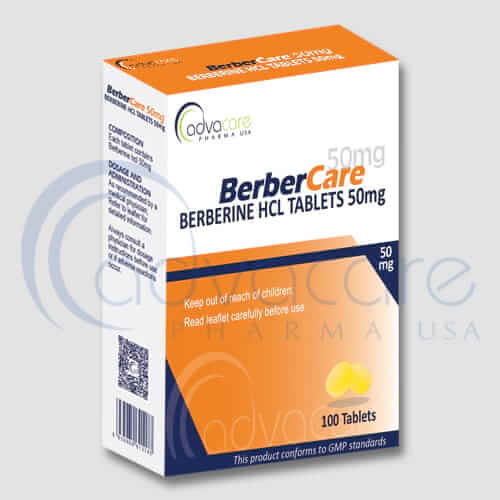 Tabletas de Berberina HCL