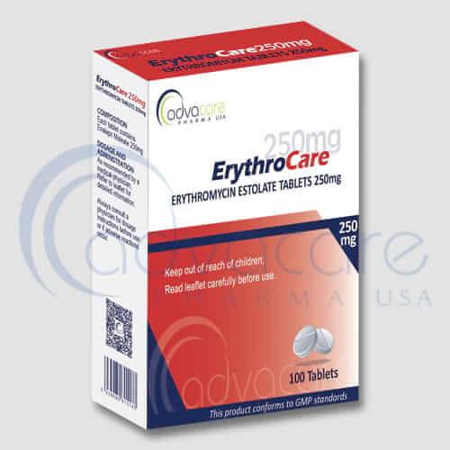 Tabletas de Eritromicina Estolato