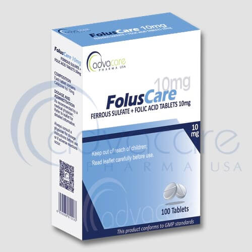 Ferrous Sulfate + Folic Acid Tablets Manufacturer 1