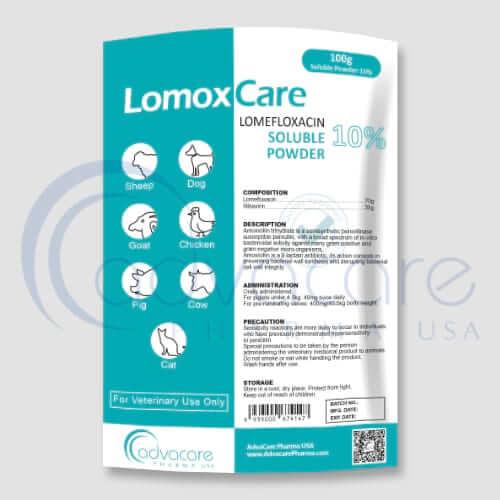 Lomefloxacin HCL Soluble Powder