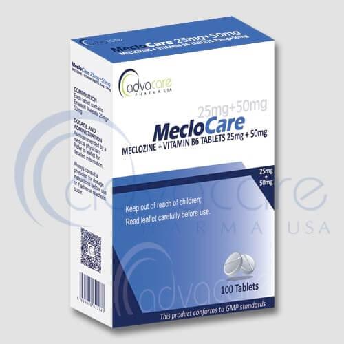 Tabletas de Meclozina (Meclizina) + Vitamina B6