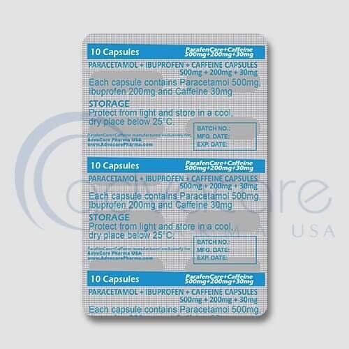 Paracetamol + Ibuprofen + Caffeine Capsules Manufacturer 4
