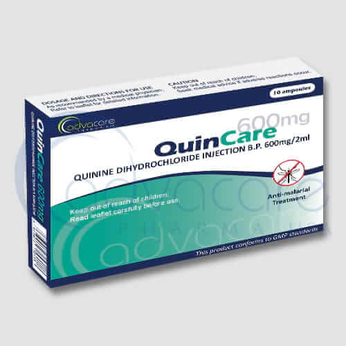 Injection de dichlorhydrate de quinine