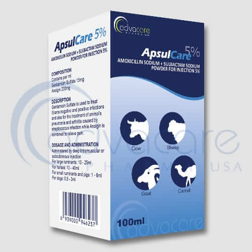 Amoxicillin Sodium + Sulbactam Sodium Powder for Injection