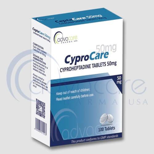 Tabletas de Ciproheptadina