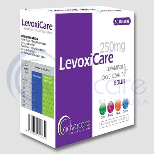 Lévamisole+bols d'oxyclozanide