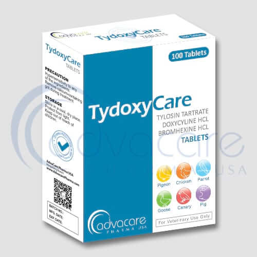 Tartrate de tylosine+Doxycycline+chlorhydrate de bromhexine