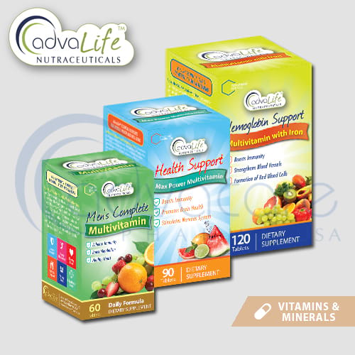 Vitamins and minerals packaging