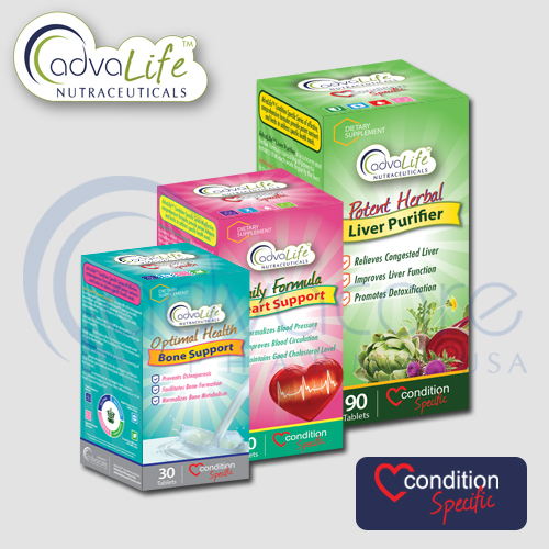 Condition specific formulas packaging