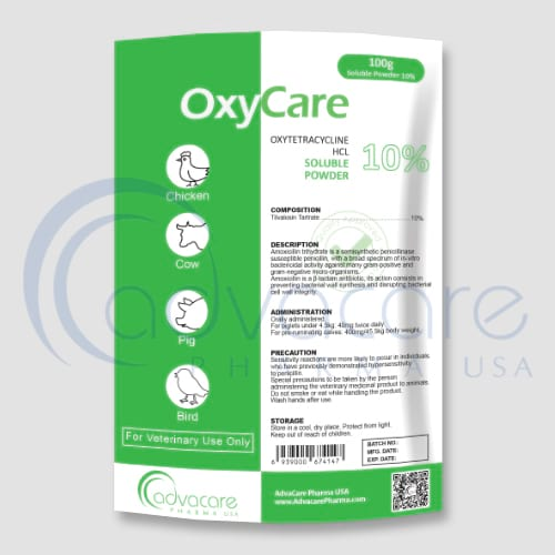 Oxytetracycline Hydrochloride Soluble Powders